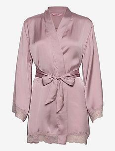 Kimono Satin Meili - bathrobes - burnished lilac