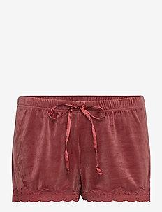 Short Velours Scallop Lace - shorts - apple butter