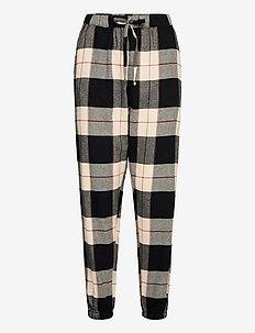 Pant Twill Check Lurex Cuff - pyjama''s - black