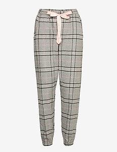 Pant Twill Check - pyjama''s - warm grey melee