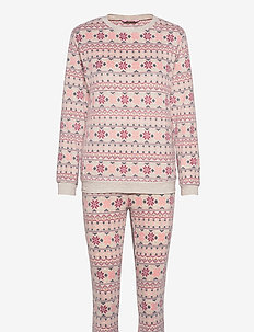 PJ Bag Micro Fleece Fairisle - pyjamas - oatmeal melee