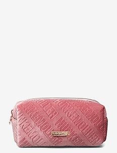 Embossed Velour Make Up - toilettassen - pink