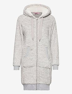 Robe Zip Fleece Novelty - koszulki do spania - grey