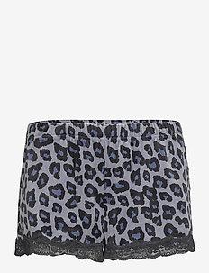 Short Velours Scallop Leopard - broeken - folkstone grey
