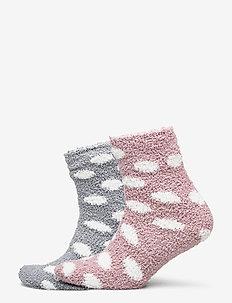 2P Cosy Dot Socks - strumpor - denim blue