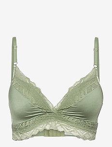 Rabella c&s non wire p - plunge bras - hedge green