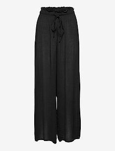 Palazzo Pant - uitlopende broeken - black