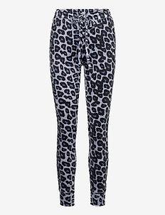 Legging Velours Cuff Leopard - leggings - folkstone grey