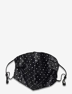 Facemask Dot Satin - gezicht maskers - black