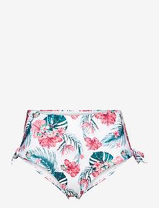 Vintage cheeky hw - bikini z wysoką talią - white