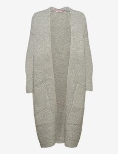 Cardigan Knit Long Pockets - cardigans - light grey melee