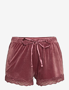 Short Velours Scallop Lace - shorts - wild ginger