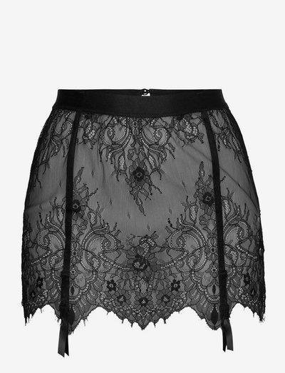 Skirt Lace Garter - bodies & onderjurken - black
