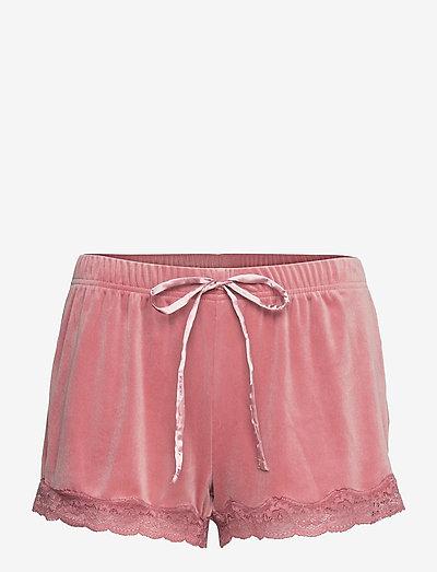 Short Velours Scallop Lace - casual korte broeken - dusty rose