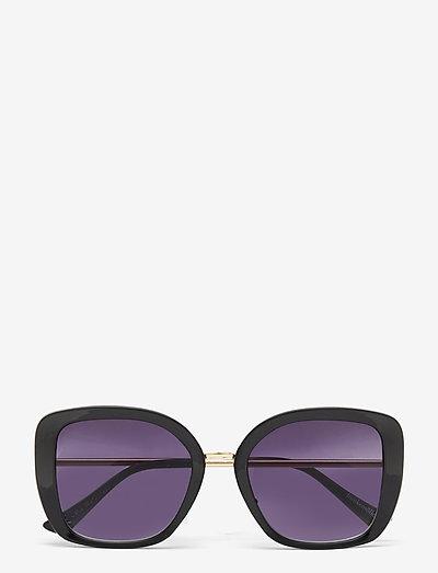 Black Sunglasses - d-vormig - black