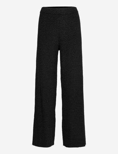 Pant Knit Wide Leg - broeken - black