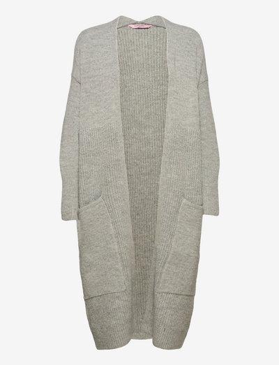 Cardigan Knit Long Pockets - vesten - light grey melee