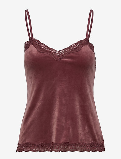 Cami Velours Scallop Lace - tops - wild ginger