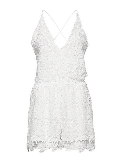 Crochet Playsuit Pyjama Weiß HUNKEMÖLLER