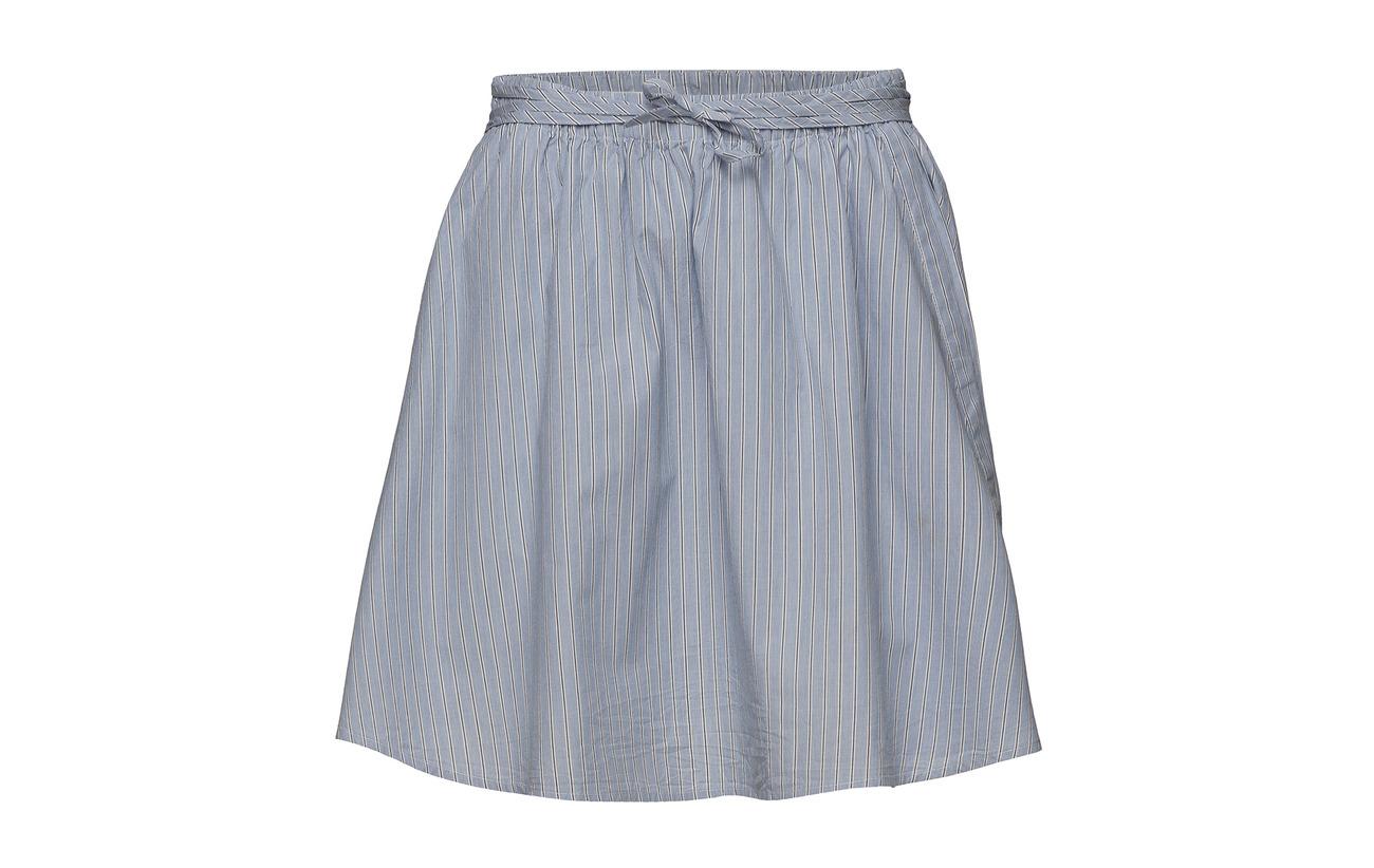 100 Mason Blue Coton Doublure Stripe Skirt Équipement Hunkydory Intérieure wB4pqYpn