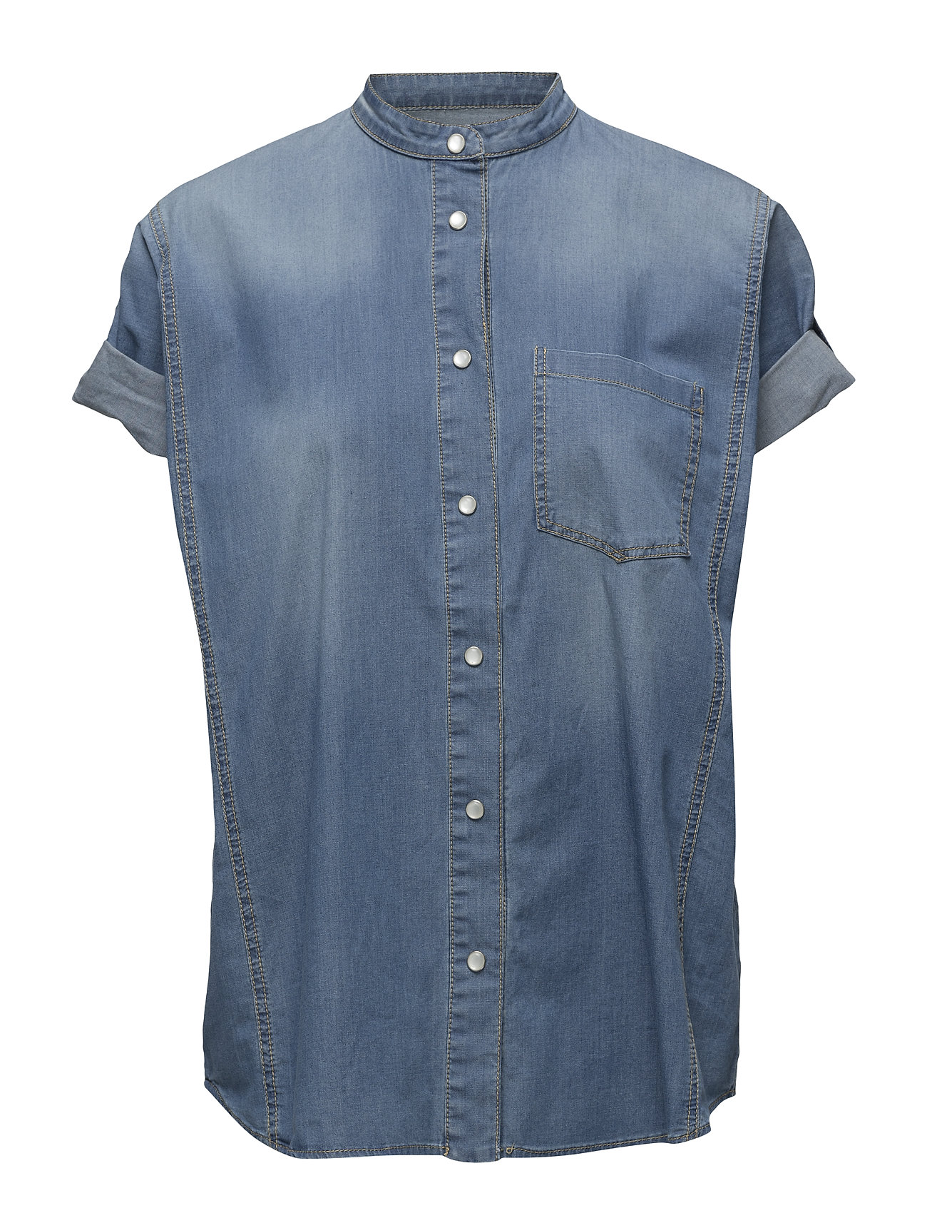 09ef2ba1c538a0 Waving Denim Shirt (Light Indigo With Abrasion) (£75) - Hunkydory ...