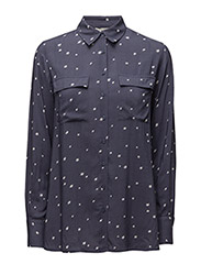 Faye Shirt - INDUSTRIAL BLUE STAR PRINT