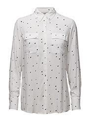 Faye Shirt - OFF  WHITE BLUE STAR PRINT