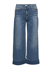 Hubert Flaired Jeans - MID INDIGO WITH ABRASION