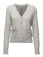 Carrie Knit Cardi - LIGHT GREY MELANGE