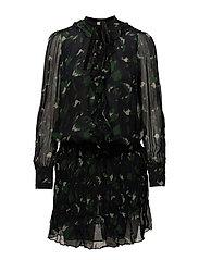 Ada Dress - NAVY SPOT PRINT