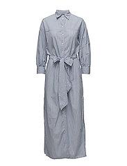 Peyton Shirt Dress - BLUE STRIPE