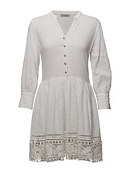 Norma Babydoll Dress - PURE WHITE