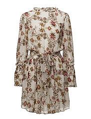 Jonquil Floral Dress - BONE/FLORAL PRINT