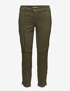 Ryan Twill Pant - slim fit spodnie - army