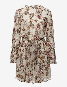 Jonquil Floral Dress - krótkie sukienki - bone/floral print