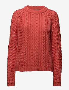 Cable Knit - CORAL