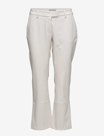 Thelma Slacks - bukser med brede ben - bone beige