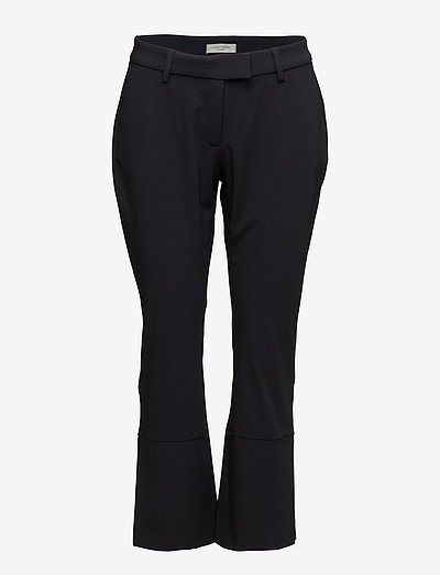 Thelma Slacks - bukser med brede ben - navy