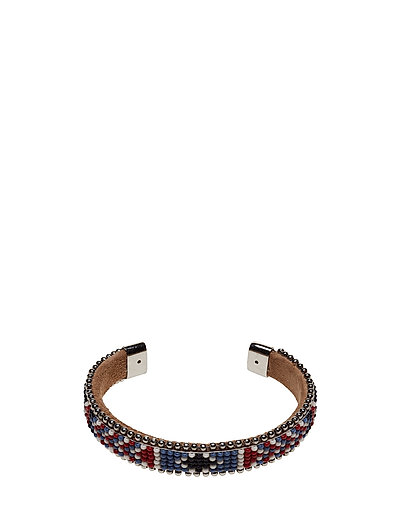 Naya Slim Beaded Cuff - RED BONE