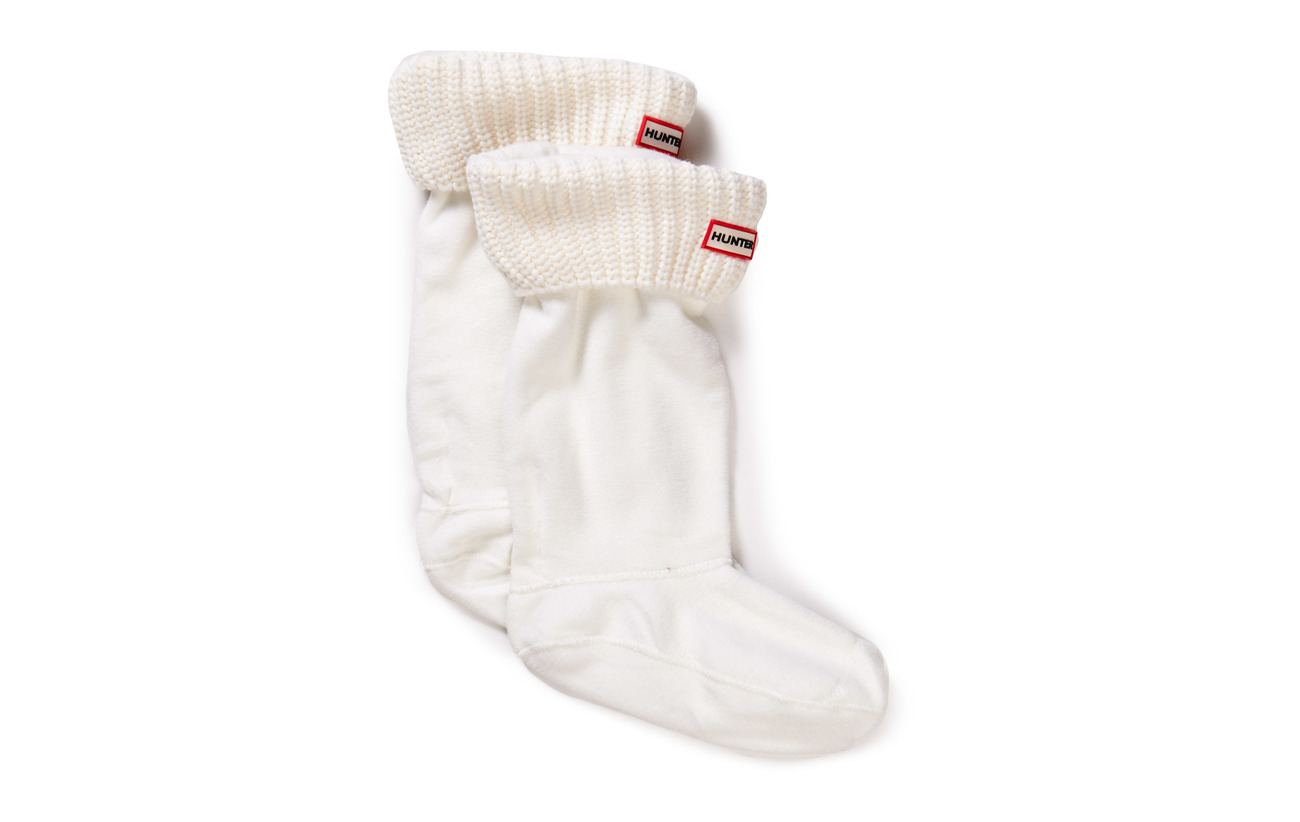 Hunter Hunter Half Cardigan Boot Sock - WHITE