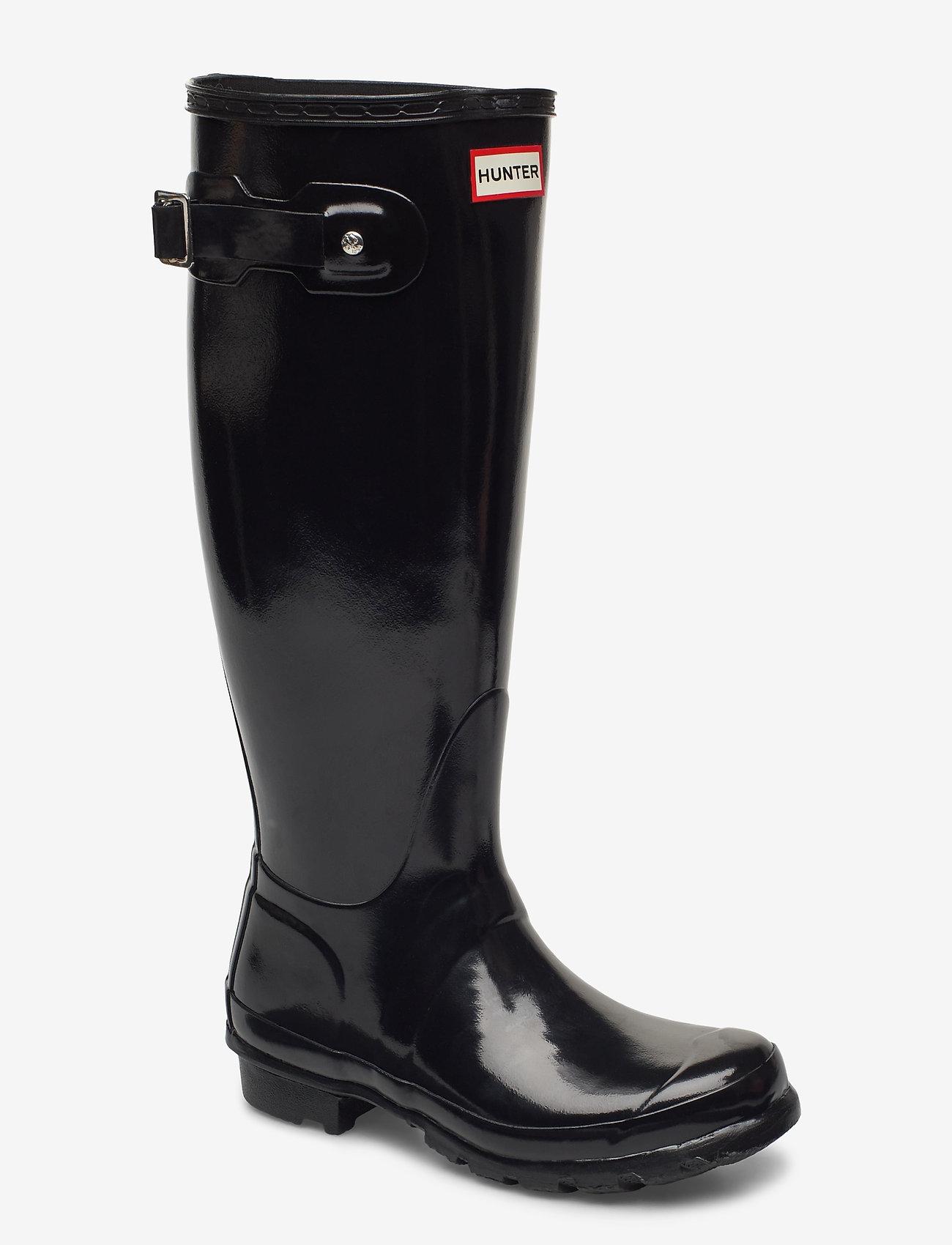 Hunter - Hunter Women's Orig Tall - gummistøvler - black - 0
