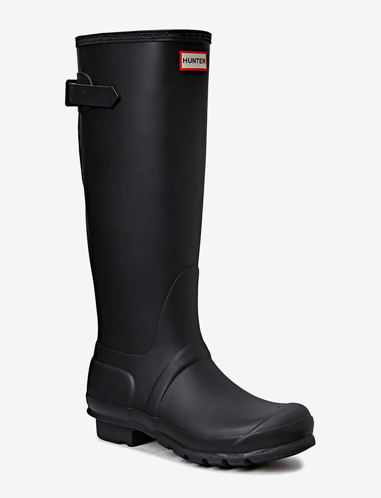 Hunter - Hunter Orig Back Adjustable - gummistøvler - black - 0