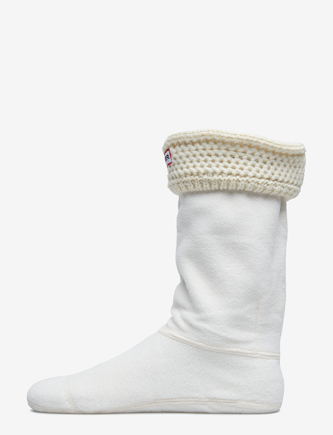 Hunter - Short Moss Cable WellySock - sokker - cream - 0