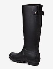 Hunter - Hunter Orig Back Adjustable - gummistøvler - black - 1