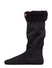 Hunter DualCableKnit BootSock - BLACK