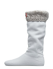 Hunter 6 Stitch CableBoot Sock - GREIGE