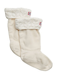 Kids Chunky CableWellySock - IVORY