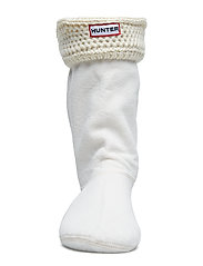 Hunter - Short Moss Cable WellySock - sokker - cream - 2