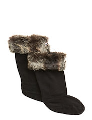 Hunter Kids FurryCuffWellySock - CHINCHILLA GREY