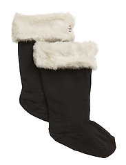 Hunter Kids FurryCuffWellySock - POLAR WHITE